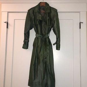 Jones New York olive-colored trench coat